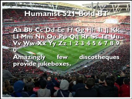 Humanist 521 Bold BT Font Preview