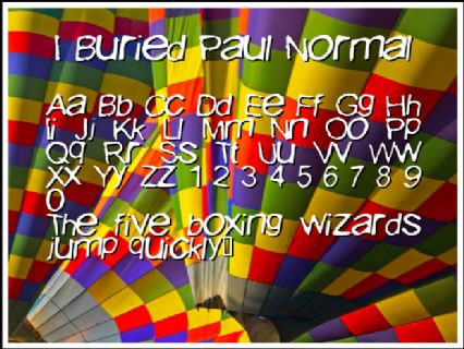 I Buried Paul Normal Font Preview