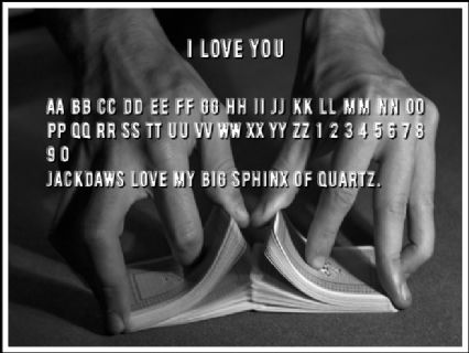 I love you Font Preview