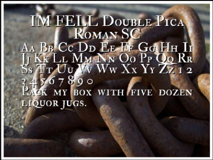 IM FELL Double Pica Roman SC Font Preview