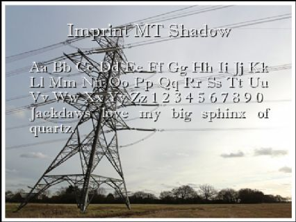 Imprint MT Shadow Font Preview
