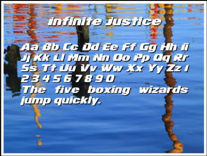 Infinite Justice Font Preview