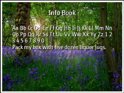 Info Book Font Preview