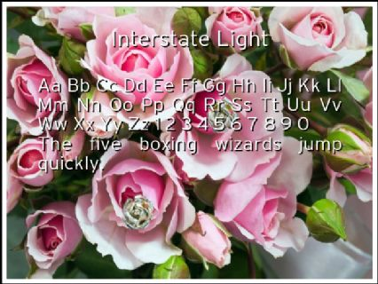 Interstate Light Font Preview