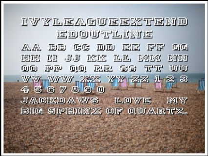 IvyLeagueExtendedOutline Font Preview