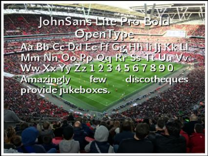 JohnSans Lite Pro Bold OpenType Font Preview