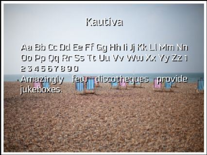 Kautiva Font Preview