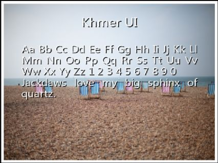 Khmer UI Font Preview