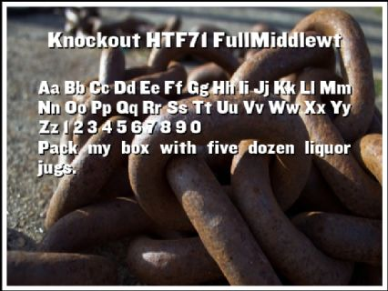 Knockout HTF71 FullMiddlewt Font Preview