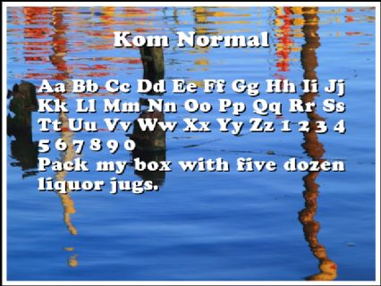 Kom Normal Font Preview