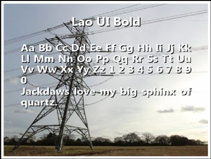 Lao UI Bold Font Preview