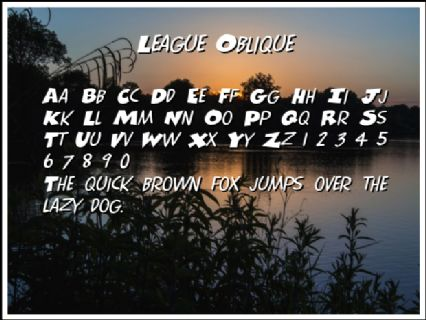 League Oblique Font Preview