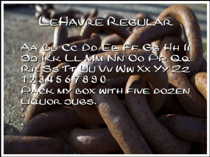 LeHavre Regular Font Preview