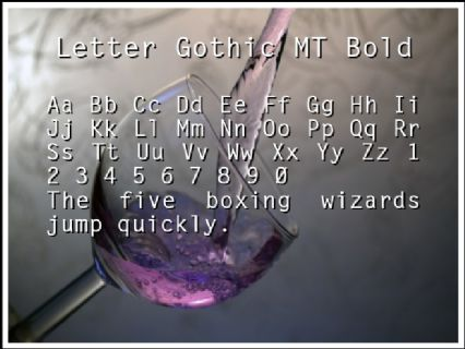 Letter Gothic MT Bold Font Preview