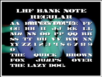 LHF Bank Note REGULAR OpenType Font Preview