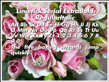 Limerick Serial ExtraBold RegularItalic Font Preview