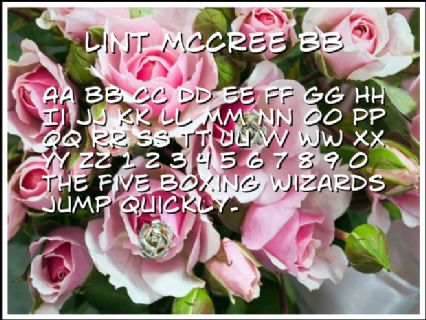 Lint McCree BB Font Preview
