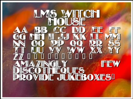 LMS Witch House Font