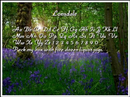 Lonsdale Font Preview