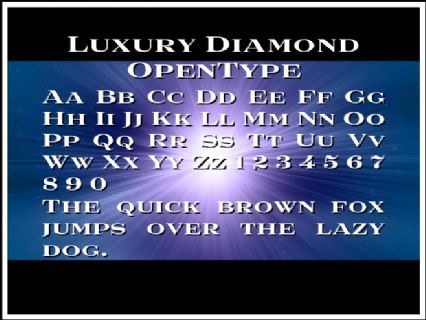 Luxury Diamond OpenType Font Preview