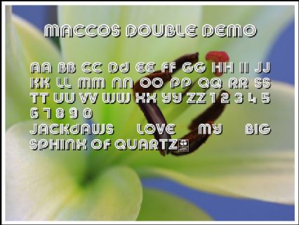 MACCOS DOUBLE Demo Font Preview