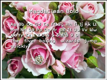 MagdaClean Bold Font Preview