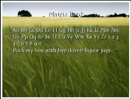 Matrix Book Font Preview