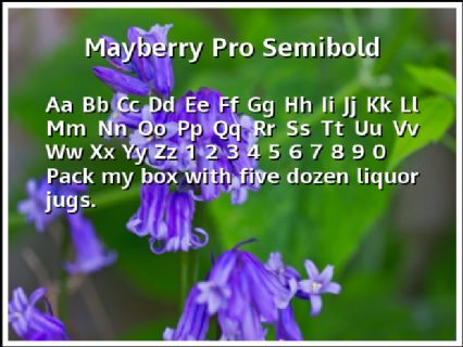 Mayberry Pro Semibold Font Preview