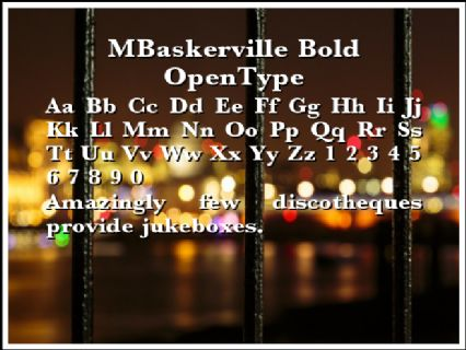 MBaskerville Bold OpenType Font Preview