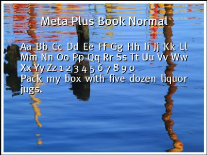 Meta Plus Book Normal Font Preview