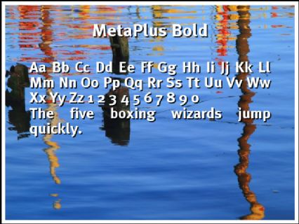 MetaPlus Bold Font Preview