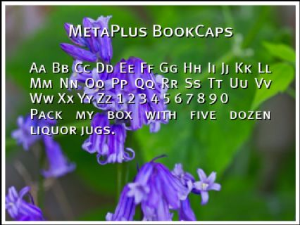 MetaPlus BookCaps Font Preview