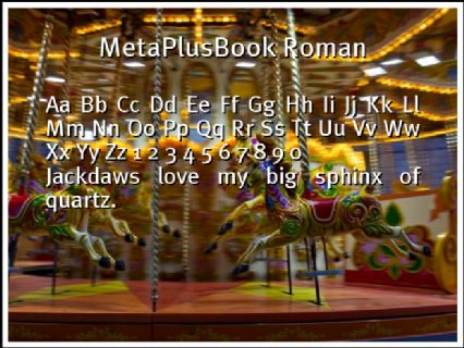 MetaPlusBook Roman Font Preview