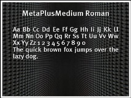 MetaPlusMedium Roman Font Preview