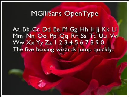 MGillSans OpenType Font Preview