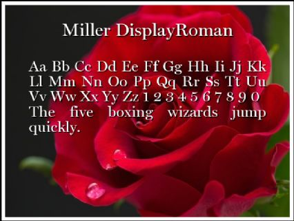 Miller DisplayRoman Font Preview