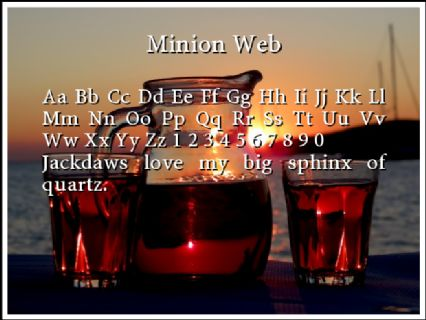 Minion Web Font Preview