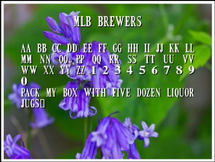 MLB Brewers Font Preview