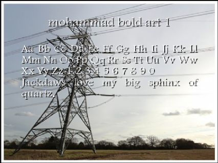 mohammad bold art 1 Font Preview
