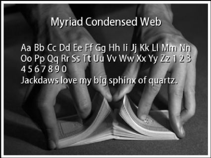Myriad Condensed Web Font Preview