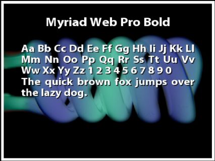 Myriad Web Pro Bold Font Preview