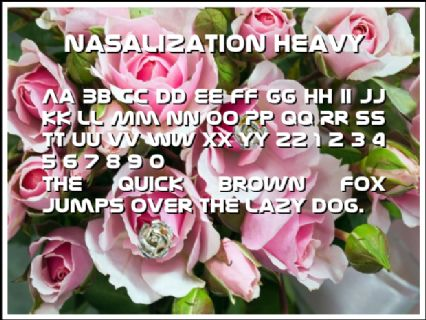 Nasalization Heavy Font Preview