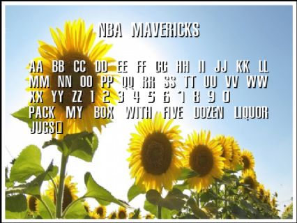 NBA Mavericks Font Preview