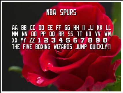 NBA Spurs Font Preview