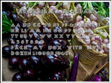 NeoPrisma Regular Font Preview