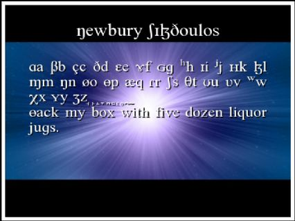 Newbury SILDoulos Font Preview