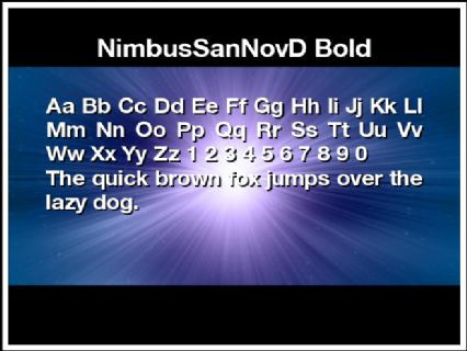 NimbusSanNovD Bold Font Preview