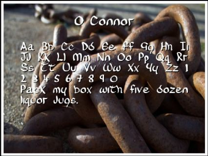 O Connor Font Preview