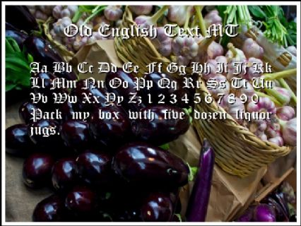 Old English Text MT Font Preview
