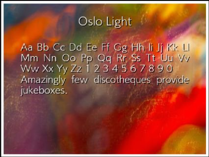 Oslo Light Font Preview